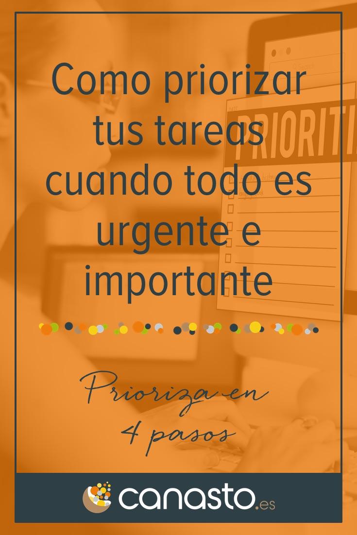 Como priorizar tus tareas cuando todo es urgente e importante