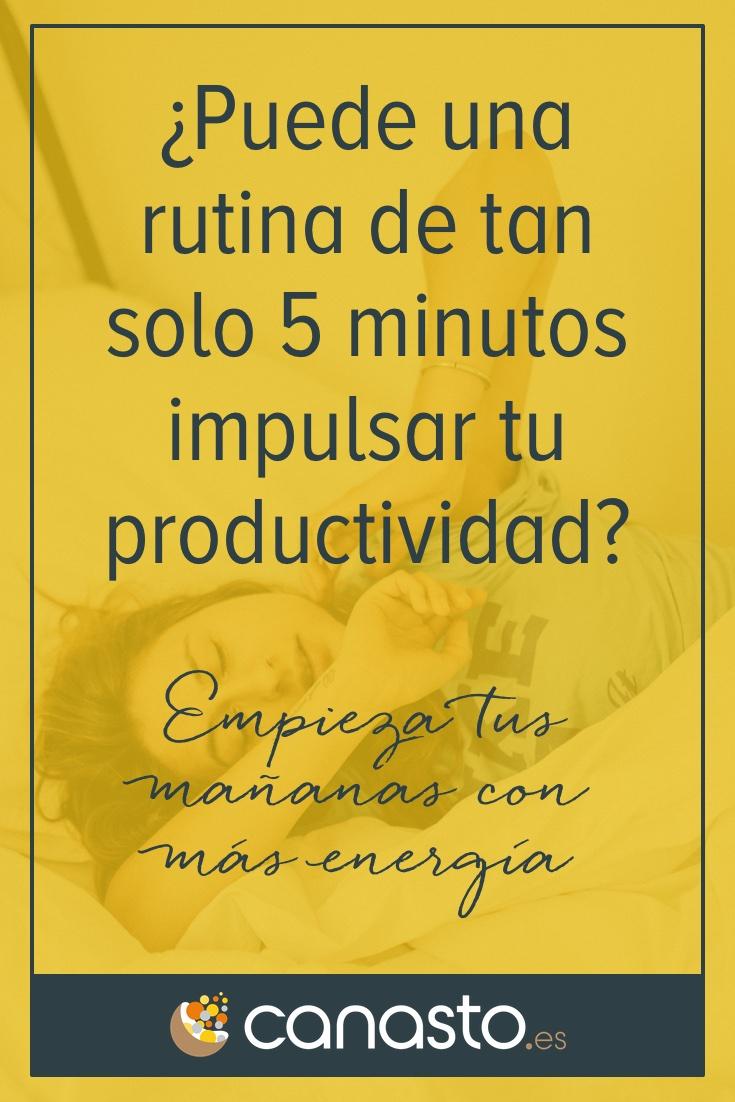 ¿Puede una rutina de tan solo 5 minutos impulsar tu productividad?