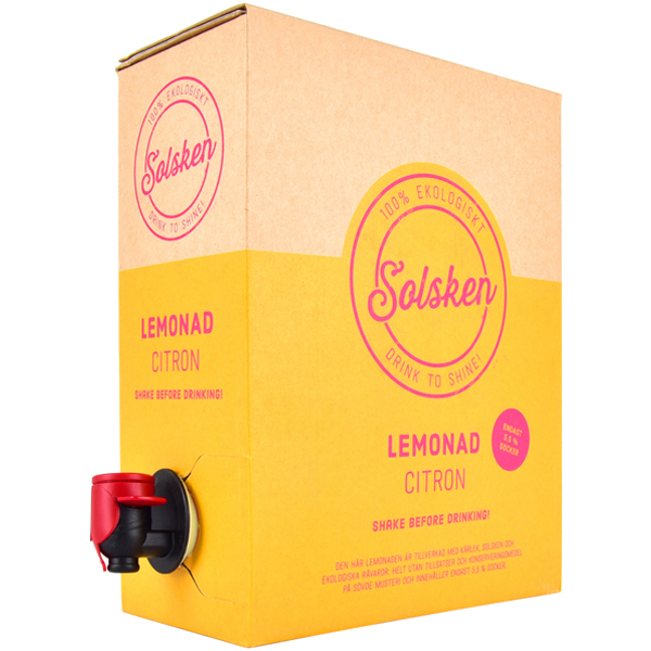Citron Lemonad, 3 l - Ingredienser: Vatten, ekologisk citronjuice, ekologiskt rörsocker.
