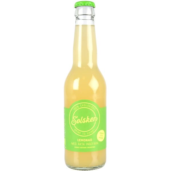 CITRON & INGEFÄRA LEMONAD - Ingredienser: Vatten, ekologisk citronjuice, ekologiskt rörsocker, ekologisk ingefära.