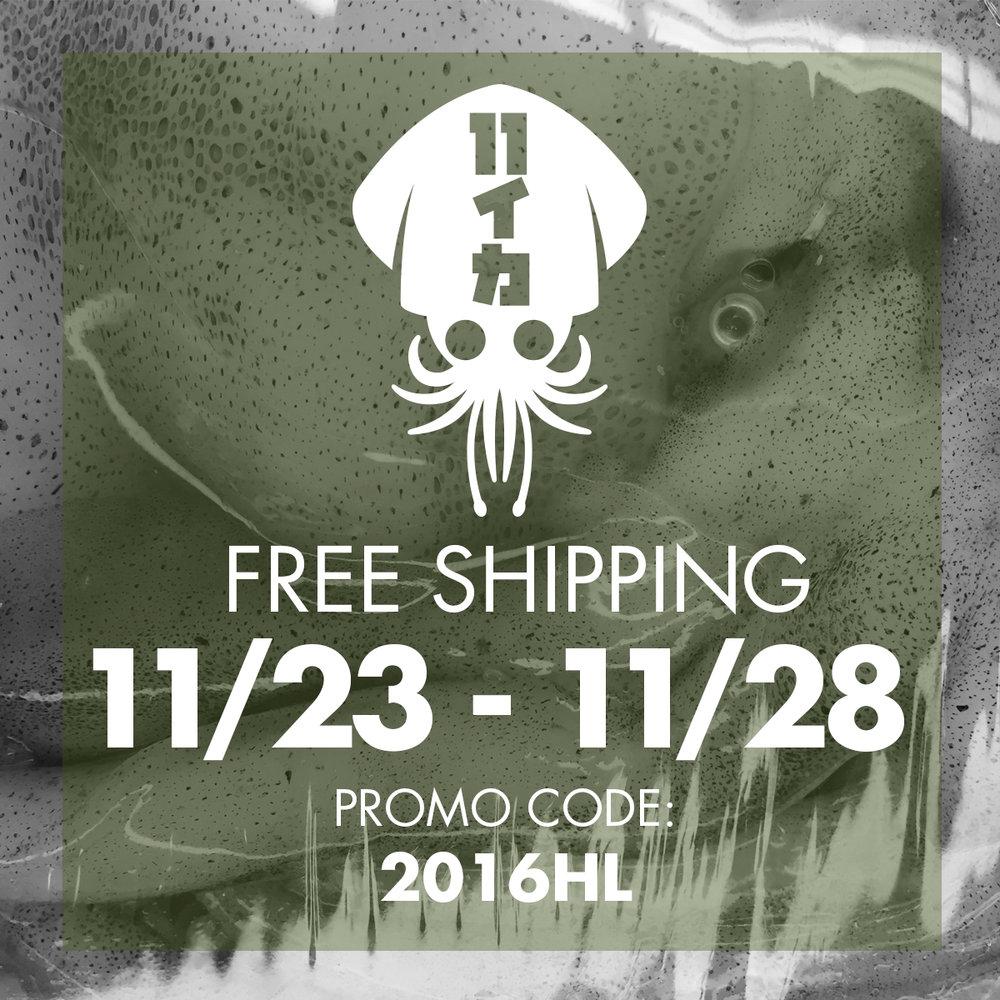 Holiday Promo: Free Shipping