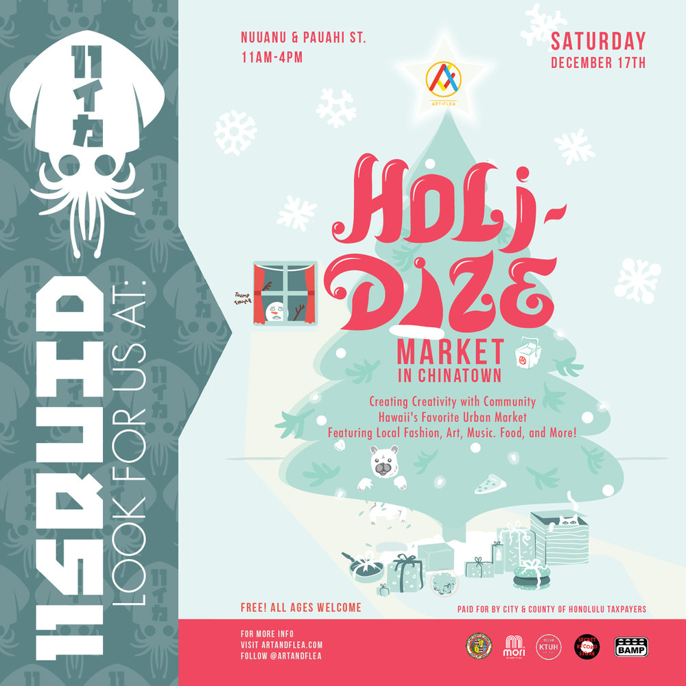 11SQUID at the Art+Flea Holidaze Event