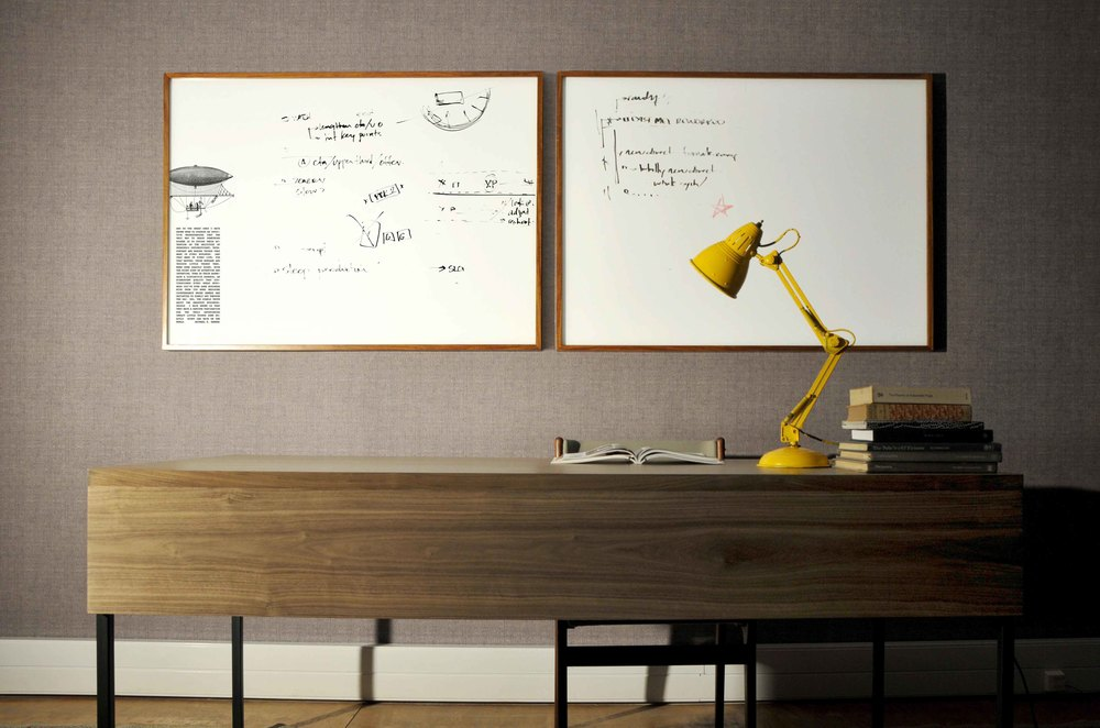 Box Frame Glass Whiteboard