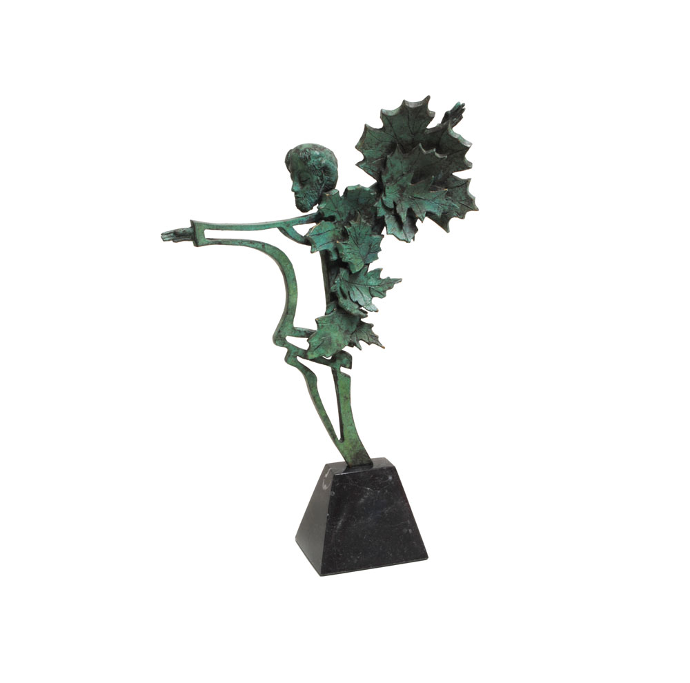 Dancing-Man-with-Sycamore-Leaves-_-Bronze-on-tapering-marble-pedestal-_-Joe-Walsh.jpg