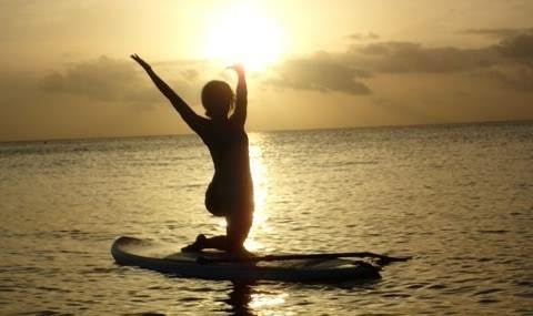 Judith Daniels, Paddle Board Yoga