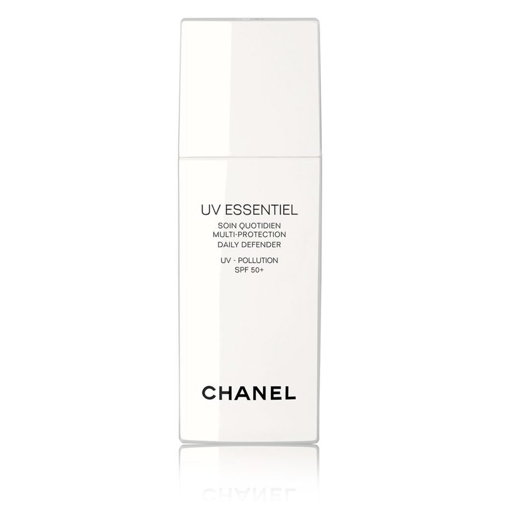 CHANEL UV ESSENTIEL SUN CREAM & MOISTURISER - $55   With Chanel's UV Essentiel skin is perfectly protected and preserved. Working with the skins natural defence system, this cream will leave your skin radiant, plump and lavishly moisturised and perfectly primed for makeup. (Currently only available in the USA).
