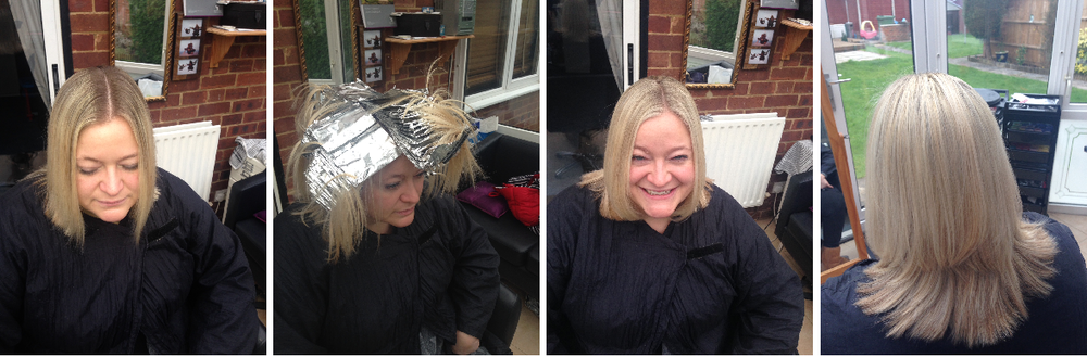 Full Head of Highlights using L'oreal pure platinum bleach with a scattering of majiblonde 900s