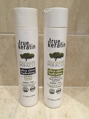 The True Keratin Shampoo & Conditioner that helps to prolong the treatment.