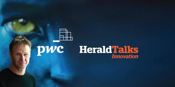 Dr Mark Sagar was keynotespeaker atfirst PwC Herald Talks event.