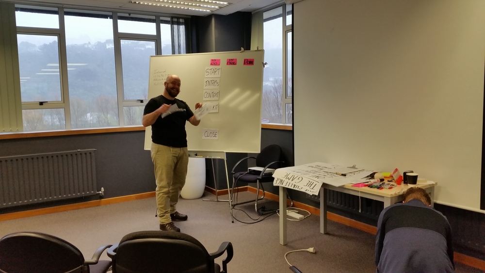 Colart Miles prepares the workshop