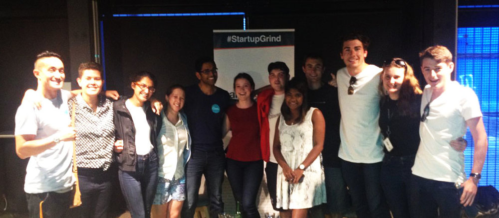 Some of the VentureUp crew at Startup Grind Auckland, the Canva addition. Picture courtesy of Venture Up.