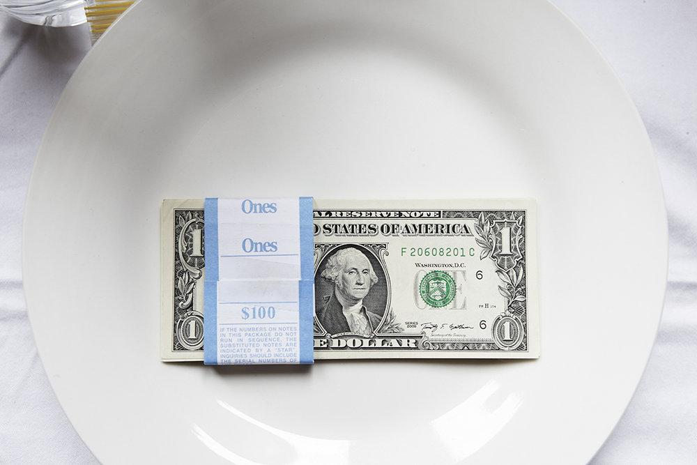 Bucking (Entrée), Fresh brick of 1 US dollar