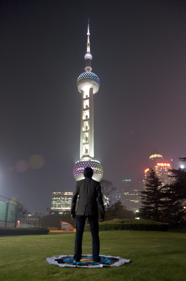 Soft Target: Pearl Tower, Shanghai, 2014, UV Inkjet Print
