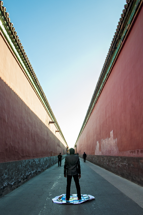Soft Target: Forbidden City, Beijing, 2014, UV Inkjet Print, Photograph taken by Zhan Qian