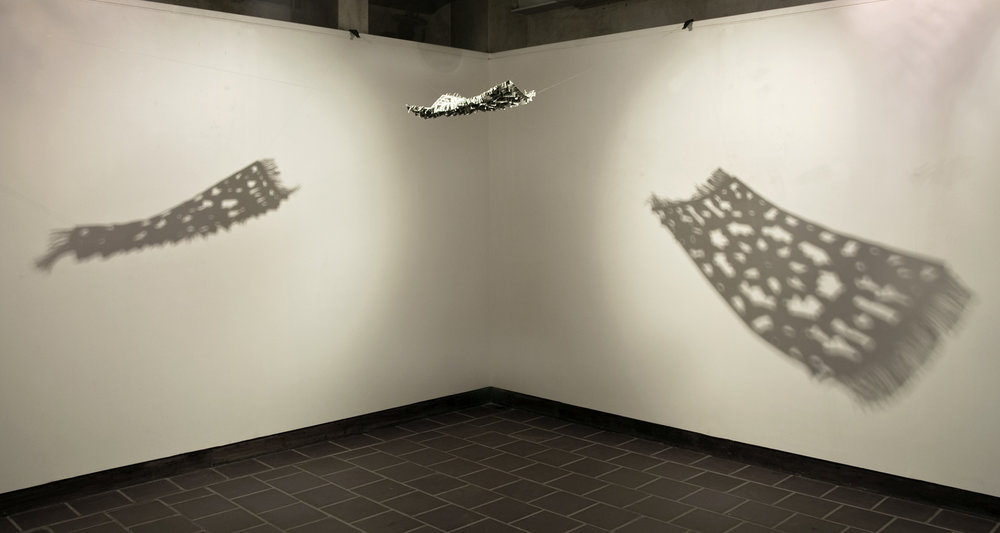 Flying Rug,  2008 -, Hand-folded US$ bills and staple pins, 51 x 76 cm also 75 x 100 cm, Installation dimensions variable: IVS Gallery, Karachi, 2008