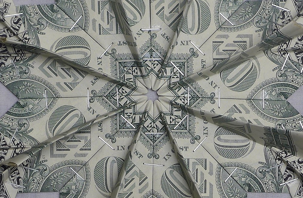 Flying Rug  (1 US$ bills), Detail III