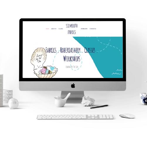 sidmouth fabrics website design
