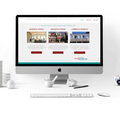 hove place decorators website design