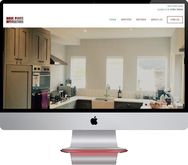 hove place decorators website design - design lab project