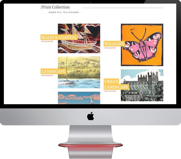 artist and painter web design - design lab project