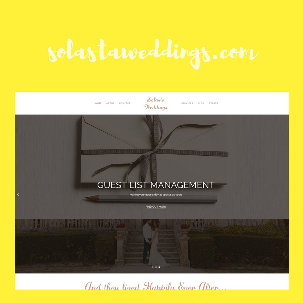 Wedding Planner and Events Portfolio Web Design