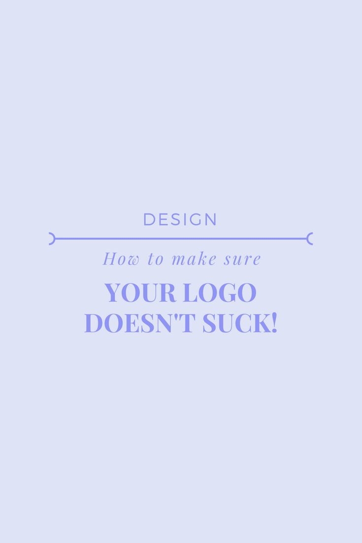 how to design a logo that doesn't suck