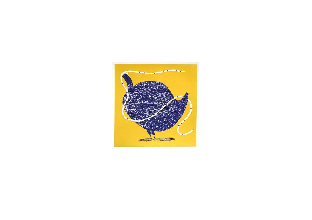 Golden Guinea Fowl