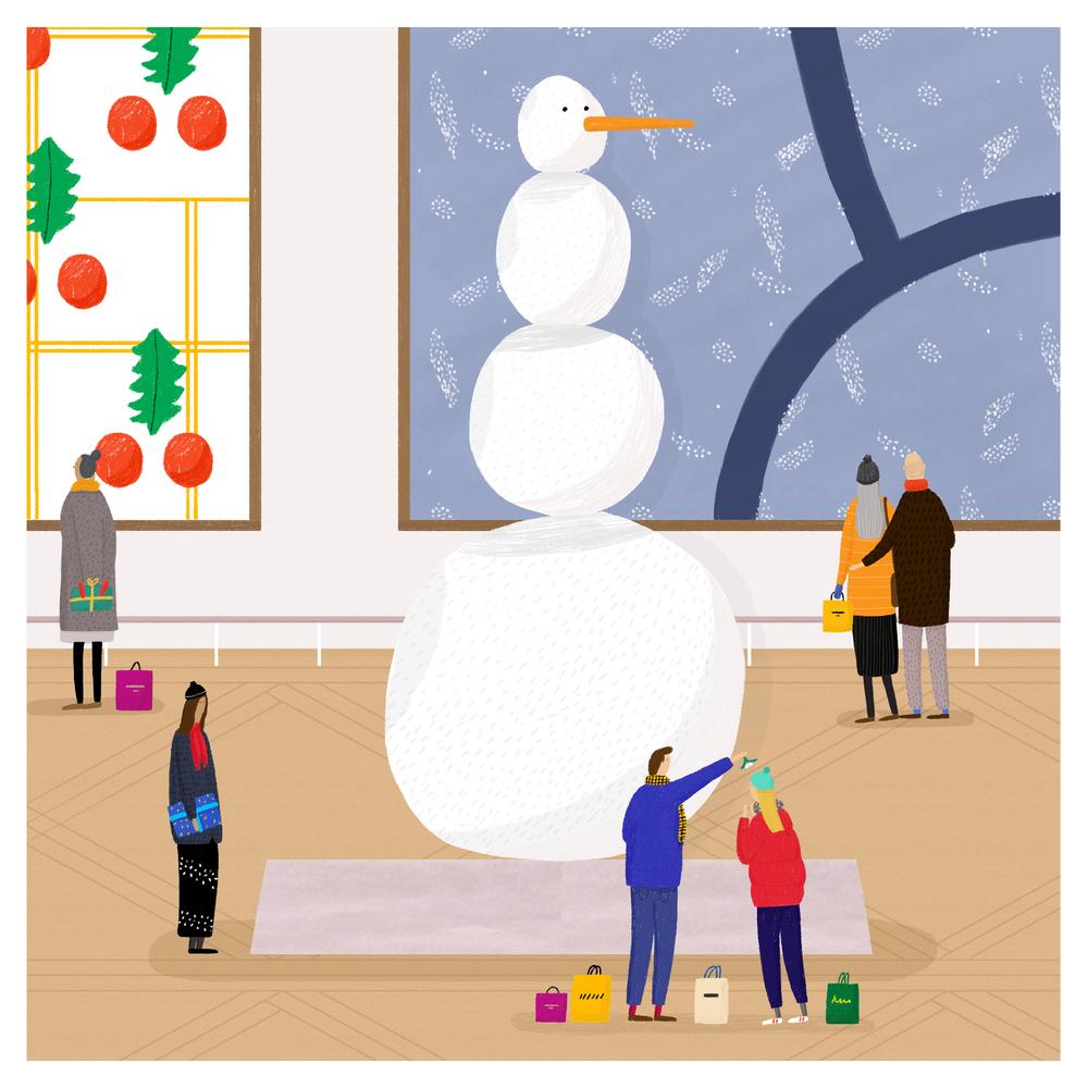 Rebecca Hossack Christmas Card