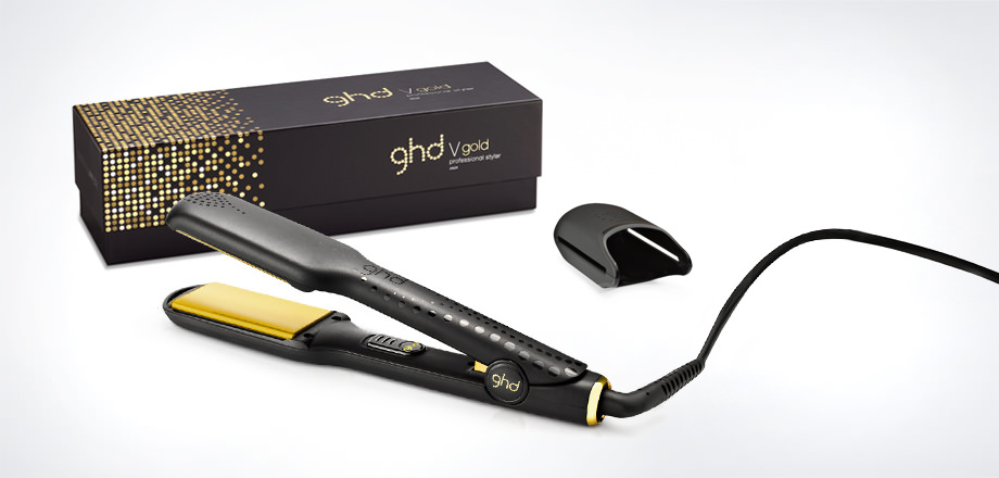 Make even easier work of straightening thick or very curly hair with the larger plates on the ghd V gold max styler. -