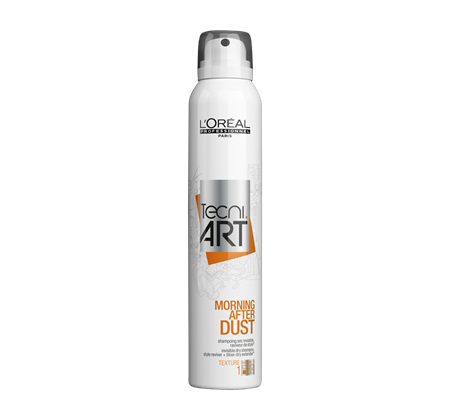 Morning After Dust - What They Say: Invisible dry shampoo. Texture range, force level 1. Suitable for all hair types, style reviver with up to 24 hours* of time release perfume.*Instrumental test.What We Think: We swear by Morning After Dust exactly when we need it - the morning after! While we don't always need this as a dry shampoo in the salon, you can bet we use it when a client wants some texture for that extra messy look (and the stylists can vouch for using it on lazy days, too!)