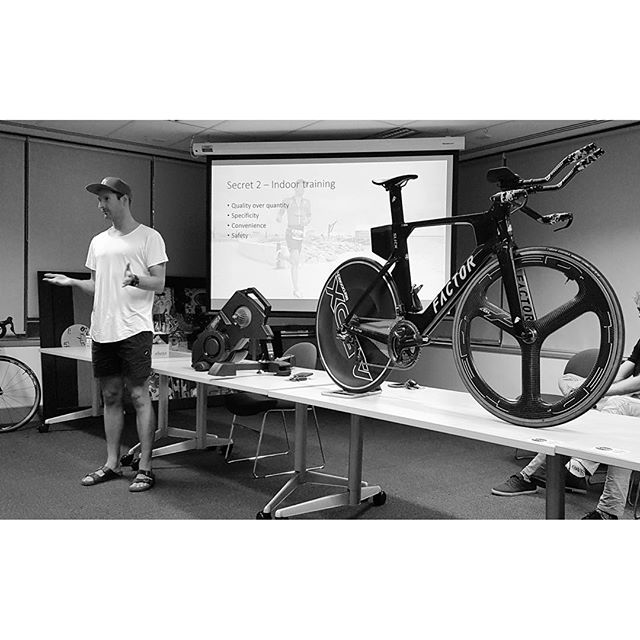 """These are a few of my favourite things"". • • • It was great to speak on behalf of @triathlonwa last night for their @im703busso ""Bike Masterclass"". For those who were unable to attend due to work or the timing of IMNZ, there is a live feed available via their Facebook page for all my secrets to cycling 🦇  #busso #busso703 #triathlon #cycling #aero #power #elitedrivo #tt #racing #prolyf"