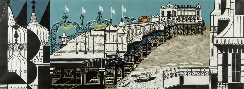 Edward Bawden 1903-1989 Brighton Pier 1958