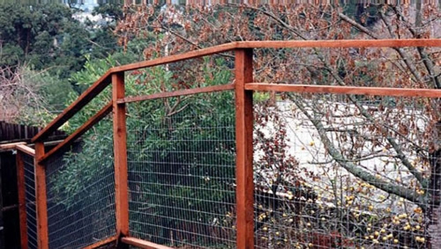 65_Mt. Tam Galvanized Wire Deer Fence with Open Window and 2x6 Cap.jpg