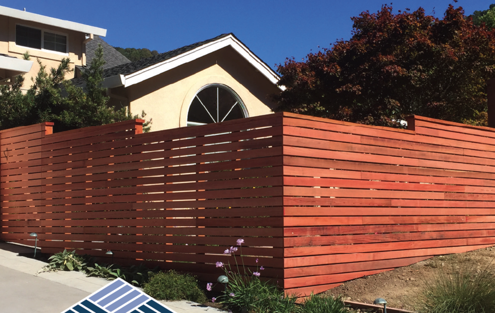 Contemporary Horizontal Fencing       FSC Redwood Fencing