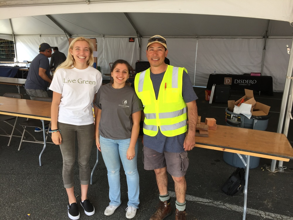 Golden State Lumber Contractor Day, FSC Interns, student teachers
