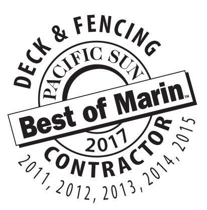Award Winning Deck and Fence Contractor Marin County