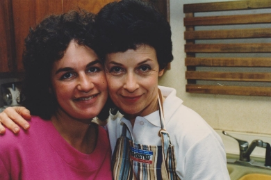 the author with her mother, August 1987