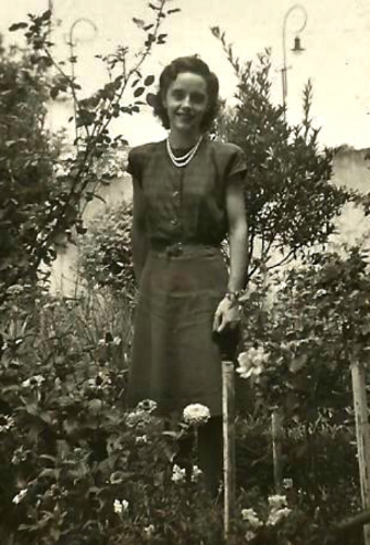 Abuela in her garden
