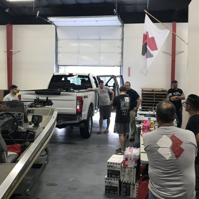 Team Rubicon boat teams, loading up for Houston.