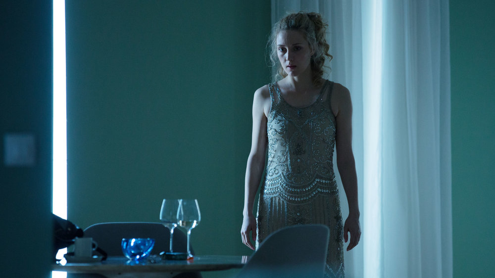 Evelyne Brochu in LE PASSE DEVANT NOUS directed by Nathalie Teirlinck - DoP Frank van den Eeden. Courtesy Savage Films