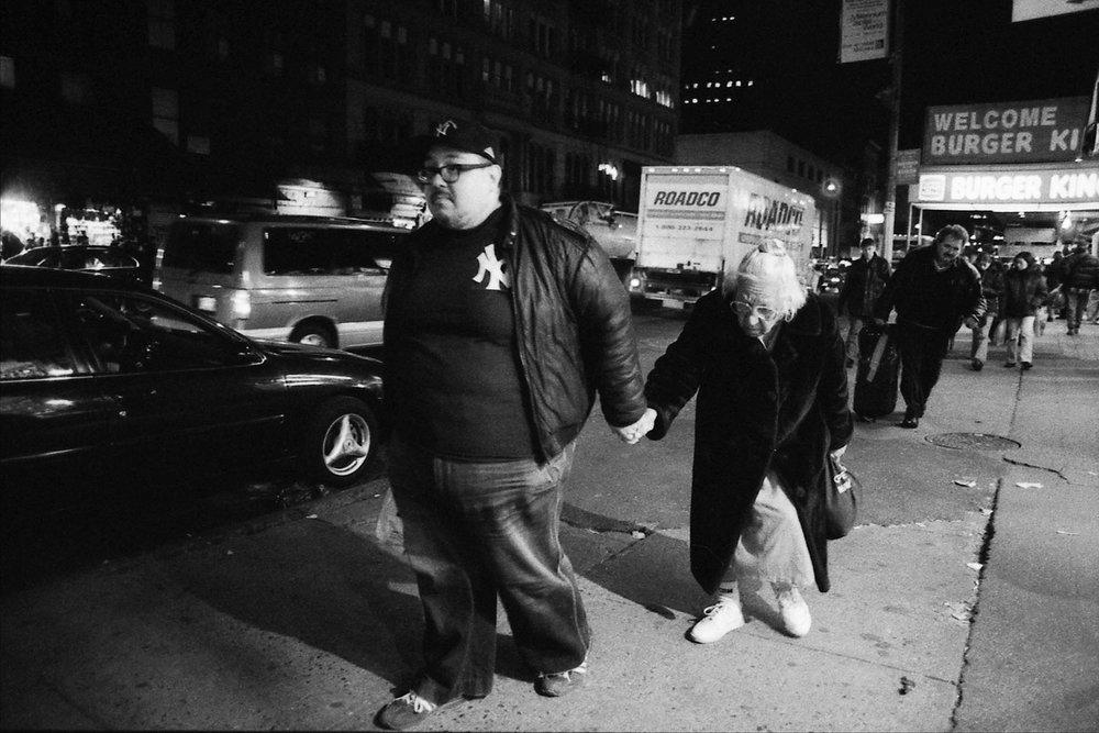 Walk with Mom, Canal Street, NYC