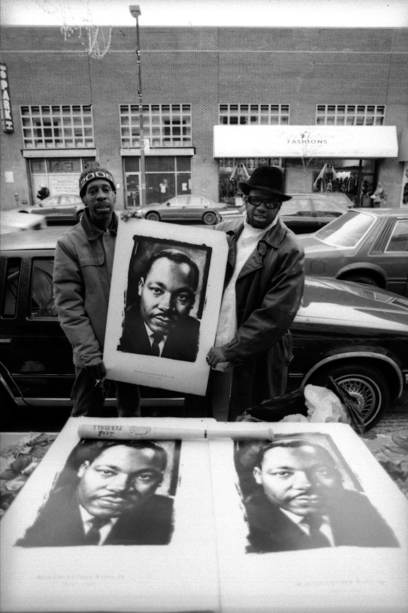 Street vendors, Harlem, NYC