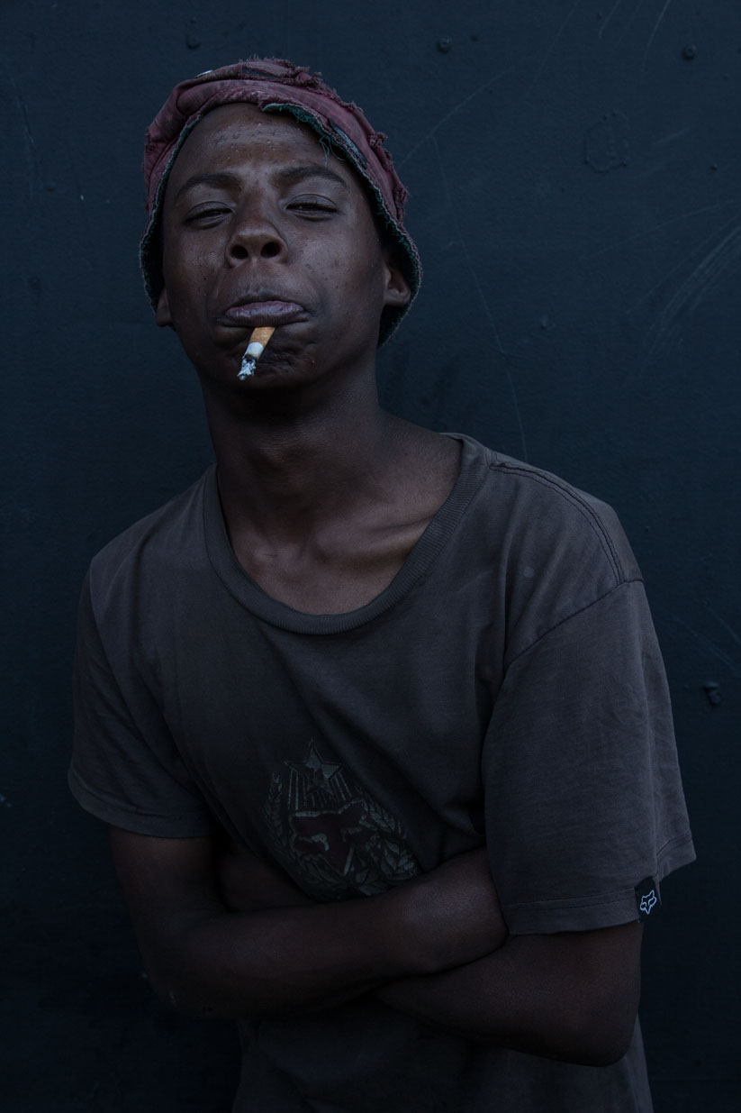 Homeless young man, Old Market, Bloemfontein.