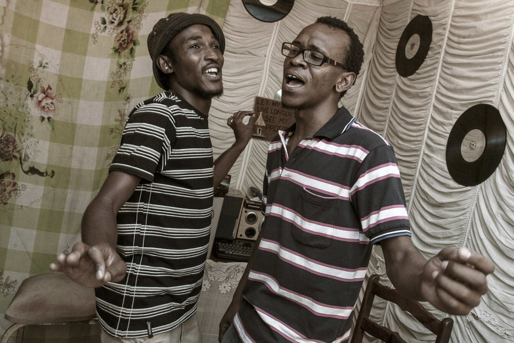 Karabo & Epic Article at their home studio, the Killjoy,  Rocklands (Bloemfontein)