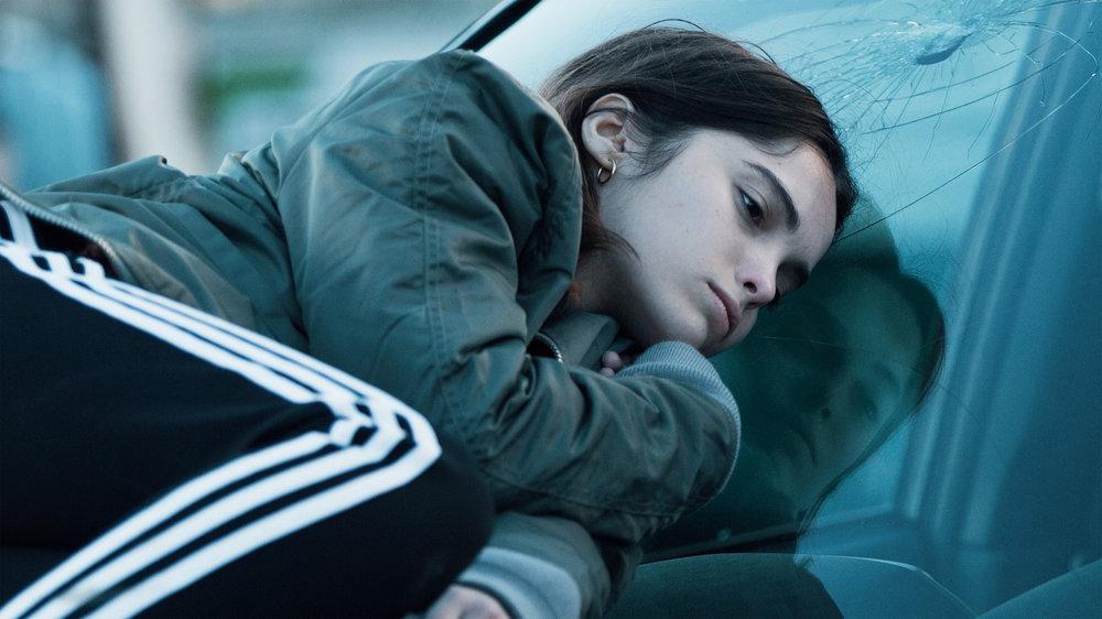 Lola Le Lann in A BLUEBIRD IN MY HEART, directed by Jérémie Guez. DoP Dimitri Karakatsanis. Courtesy Cheyenne/UMedia