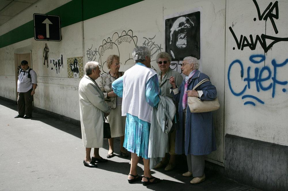 Bus Stop Gossip.