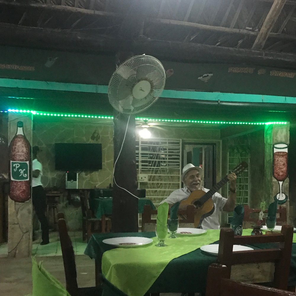 our itinerary was not designed to be foodie-friendly, so we were prepared for most of the food to be lacking. but the ambiance never disappointed.   photo: paladar papi happy, guanabo