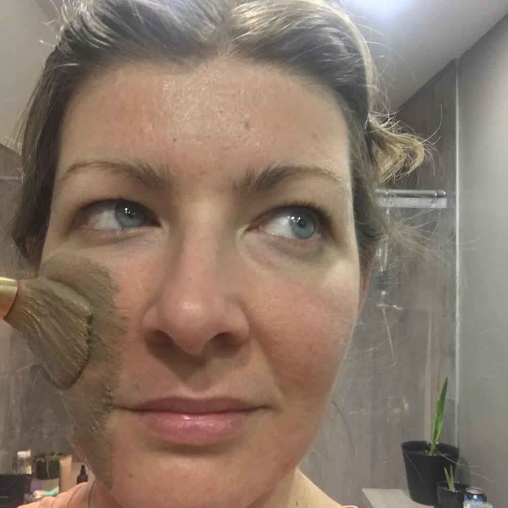 rhassoul clay mask application