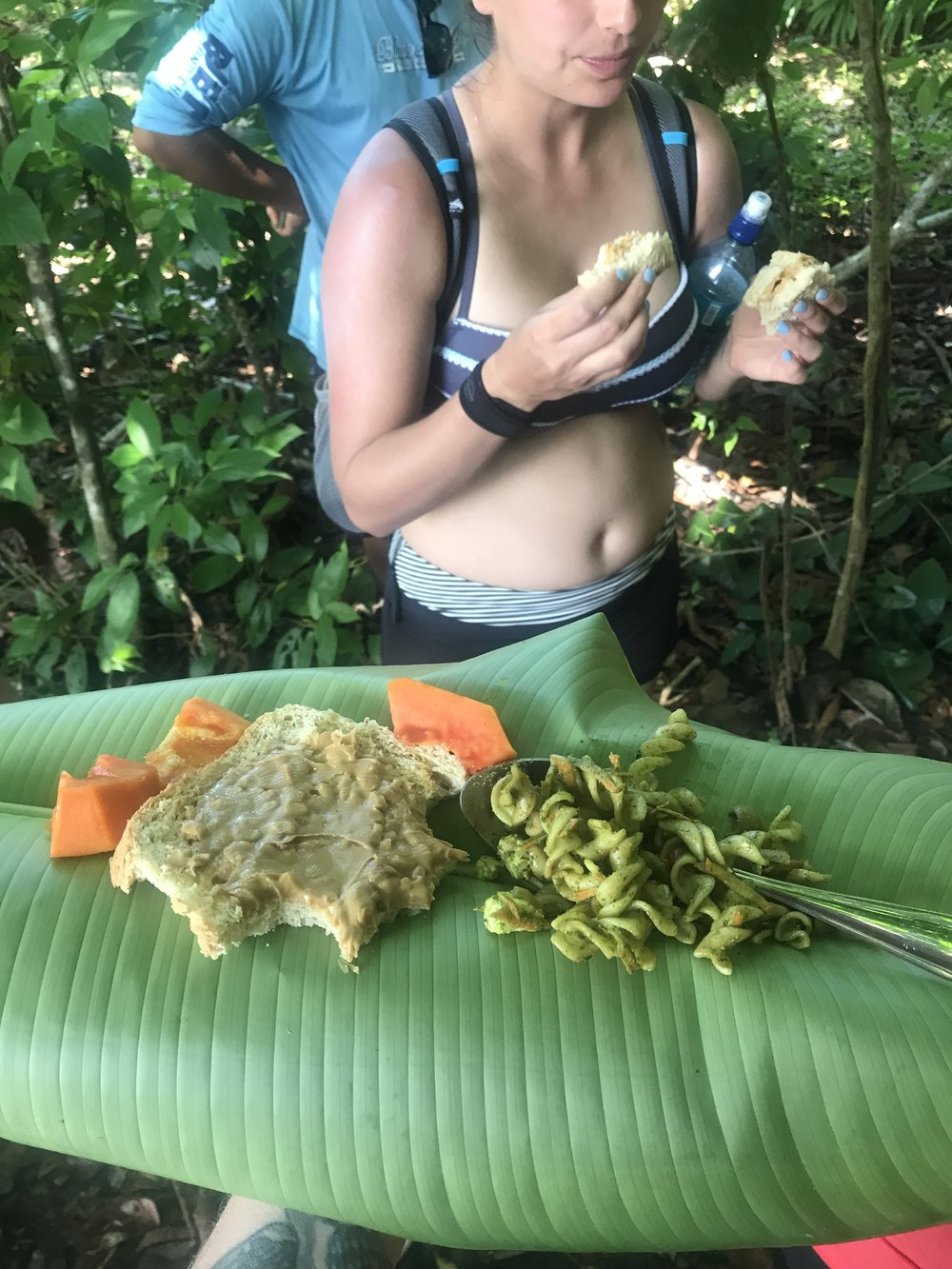 my 11th time in latin america: the first time i ever ate lunch off a banana leaf.