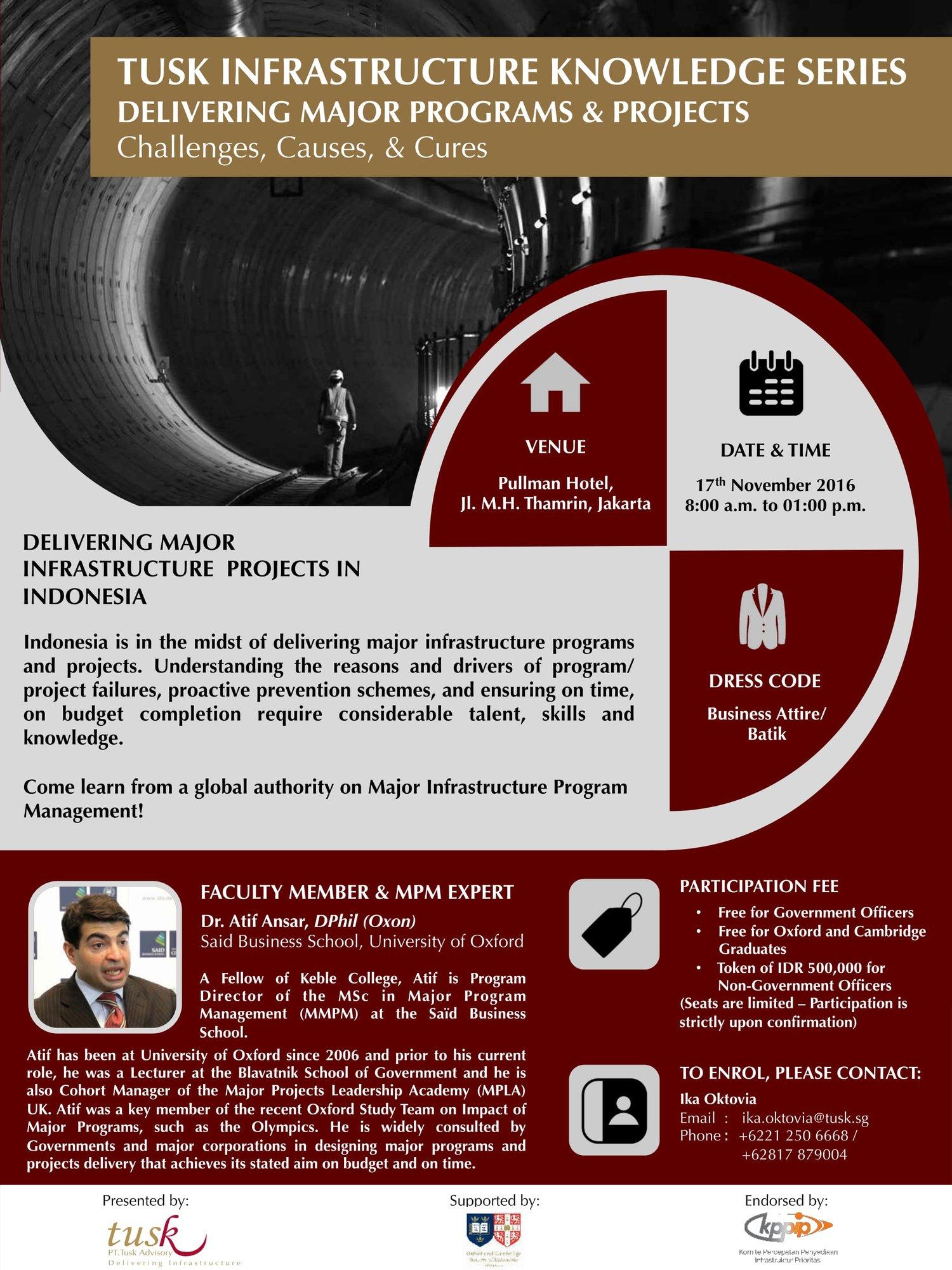 Event Tusk Infrastructure Knowledge Series Delivering Major